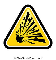 sprængstof, tegn, hazard