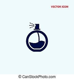 sprühen, vektor, behälter, parfüm, ikone