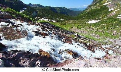 Sprague Creek Cascades Montana - Cascades of Sprague Creek...