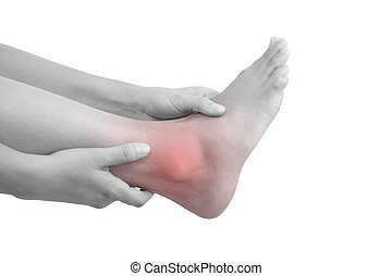sprained, ankle.
