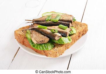 Sprats sandwich