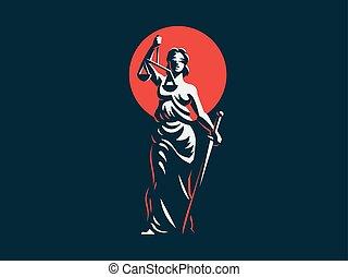 sprawiedliwość, bogini, themis.