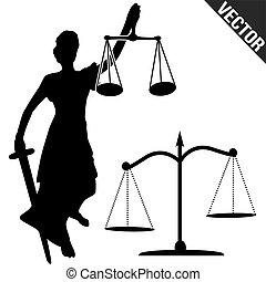 sprawiedliwość czyszczą z łusek, statua