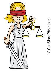 sprawiedliwość, dama