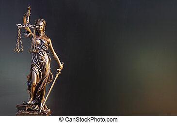 sprawiedliwość, dama, statua