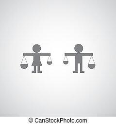 sprawiedliwość, ikona