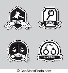 sprawiedliwość, ikony