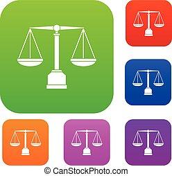 sprawiedliwość, kolor, tabela, komplet, zbiór