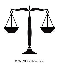 sprawiedliwość, skalpy, czarnoskóry, ikona