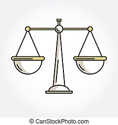 sprawiedliwość, waga, symbol, waga, ikona