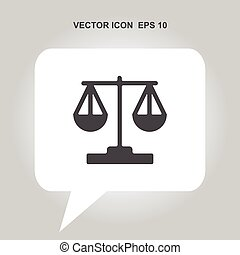 sprawiedliwość, wektor, ikona