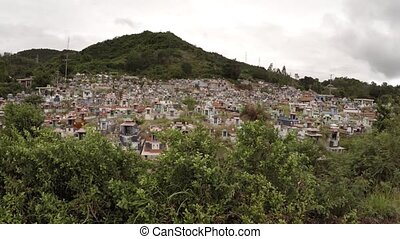Sprawling Buddhist Cemetery in Vietnam. 4k UltraHD video