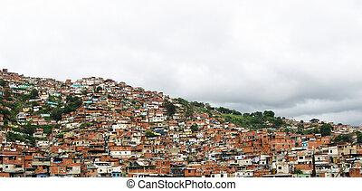 Sprawling ghetto in Caracas, Venezuela