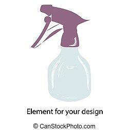 spray., background.., pulverizer, illustration, vecteur,...