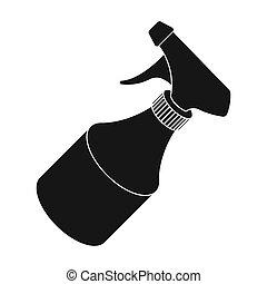 Spray. Barbershop single icon in black style vector symbol stock illustration web.