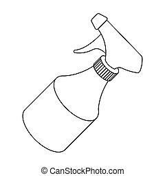 Spray. Barbershop single icon in outline style vector symbol stock illustration web.