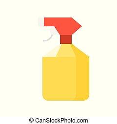 spray bottle  flat icon, farm equipment vector