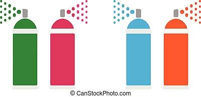 spray bottle icon on white background
