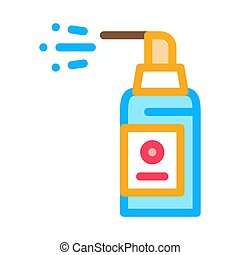 Spray Bottle Icon Vector Outline Illustration