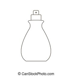 Spray bottle illustration