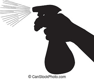 Spray bottle silhouette vector - This image is a vector...
