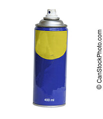 A spray can isolated on white