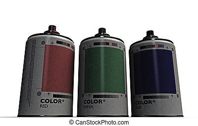 spray cans