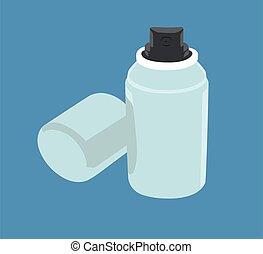 Spray deodorant vector illustration isolated