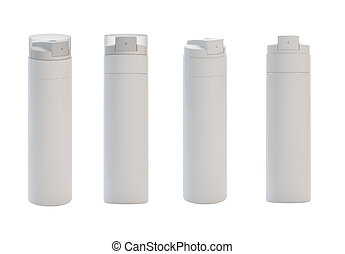 Spray - 3d render of different views isolated sprays