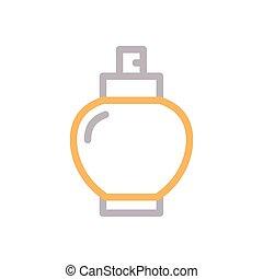 spray flat color icon