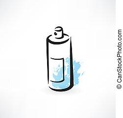 spray grunge icon