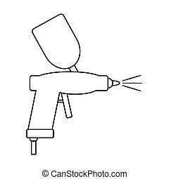 Spray gun icon on white.