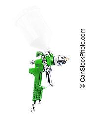Spray gun isolated over white background