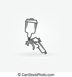 Spray gun logo - Spray gun icon or logo - black vector...