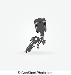 Spray gun vector icon - Spray gun icon or logo - black...