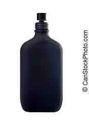 Spray of parfum - A spray bottle of parfum on white ...