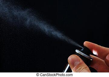 Spray over black
