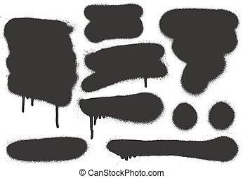 Spray Paint Elements Set