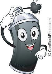 Spray Paint Mascot - Mascot Illustration Featuring a...