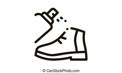 Spray Paint Shoe Icon Animation. black Spray Paint Shoe animated icon on white background