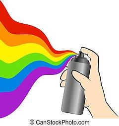 Spray paint symbol