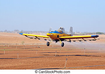 Spray Plane - A spray plane or crop duster applies chemicals...