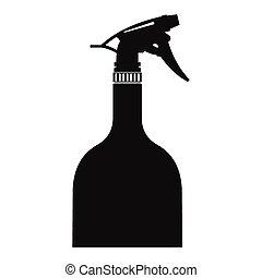 Sprayer bottle black simple icon