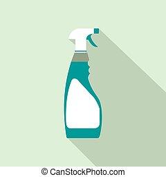 Sprayer bottle flat icon