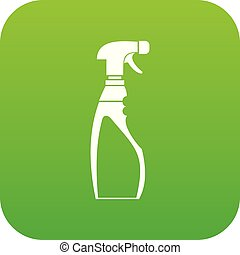 Sprayer bottle icon digital green
