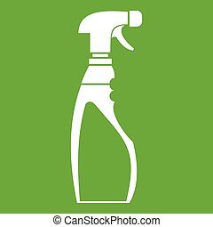 Sprayer bottle icon green