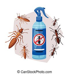 Sprayer Bottle of Ant and Termite Insecticide, Pest Control ...