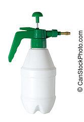 sprayer bottle white plastic isolated on white background