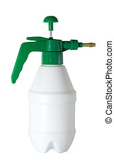 sprayer bottle white plastic isolated on white background