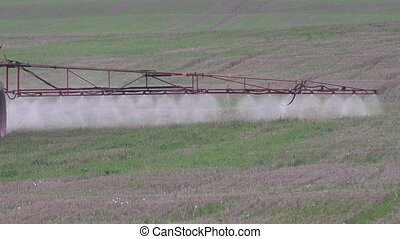 sprayer wing spray special liquid to kill weeds in stubble...
